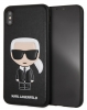 Задняя накладка Lagerfeld PU Leather Iconic Karl Hard для Apple iPhone XS Max