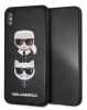 Задняя накладка Lagerfeld PU Leather Karl and Choupette Hard для Apple iPhone XS Max